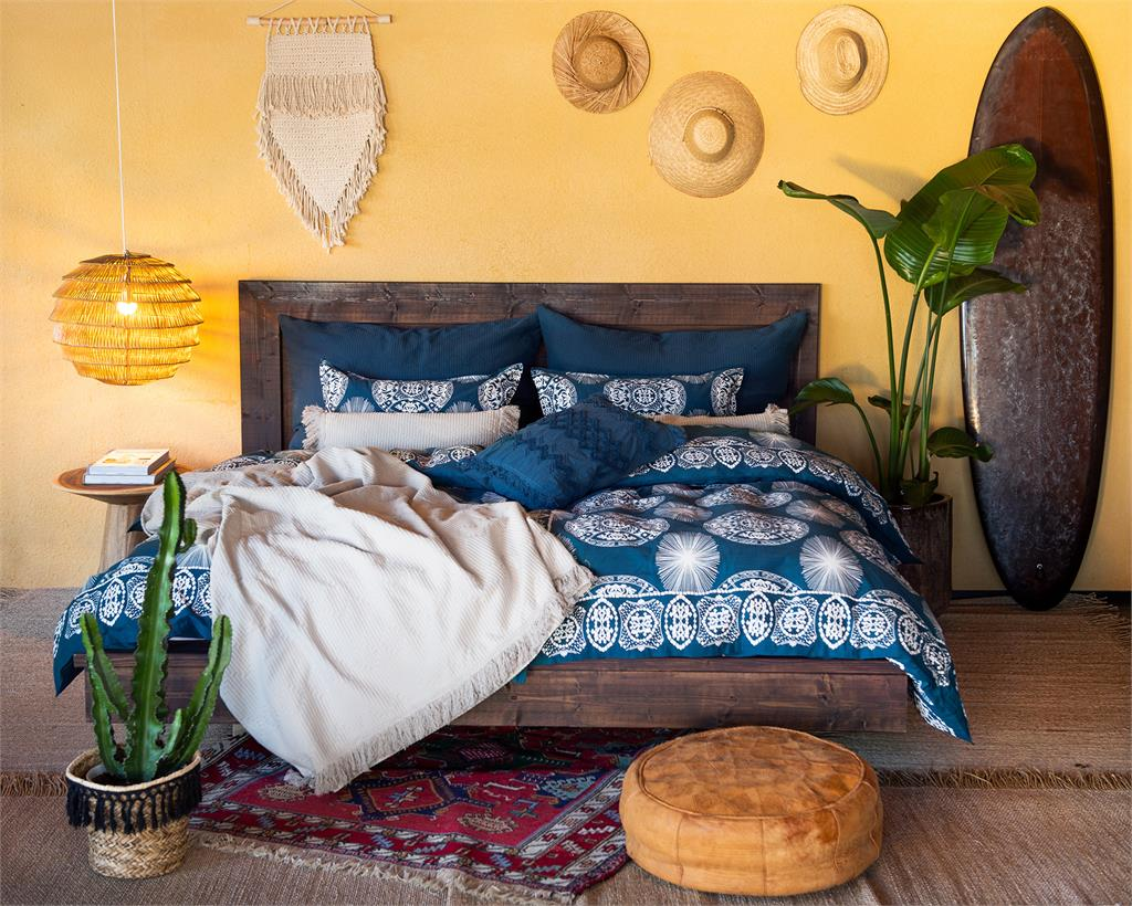 Maya bedlinen, Tulum bedspread beige Tulum pillowcase Tulum cushion cover Malca cushion cover